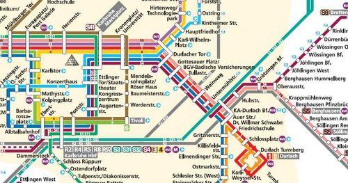 Karlsruhe system map