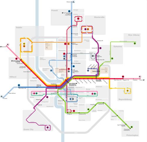Fantasy Maps Columbus Human Transit