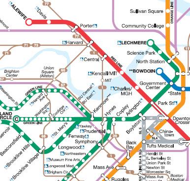 Boston Bus Map Boston: The