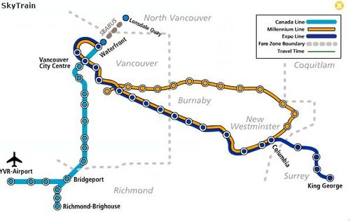 Map Of Canada Line Vancouver.Vancouver The Great Broadway Debate Human Transit