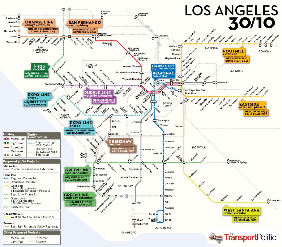 Los Angeles The Next Great Transit Metropolis Human Transit