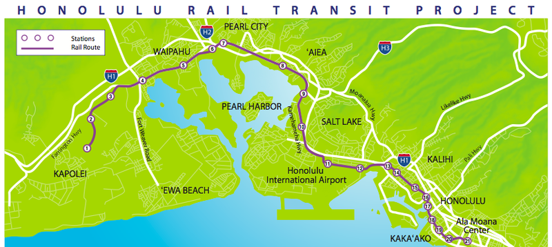 Honolulu-Rail-Map