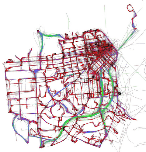 Do it yourself maps of real time information human transit muni by eric fischer solutioingenieria Image collections