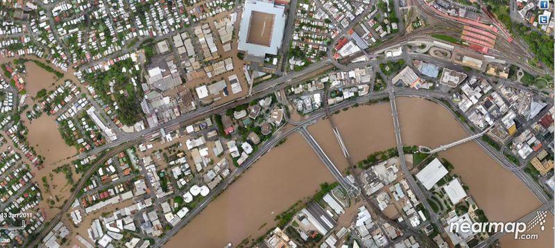 Milton flood nearmap