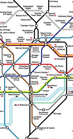 伦敦地下的地下地图