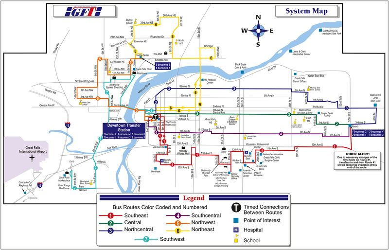 Great Falls TransitMap