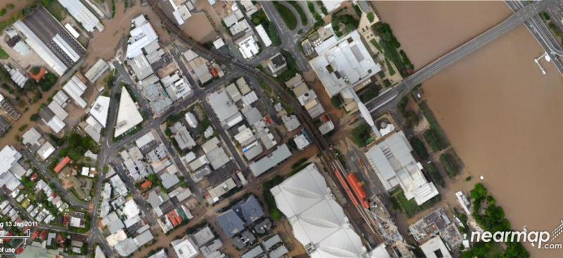 West end flood nearmap