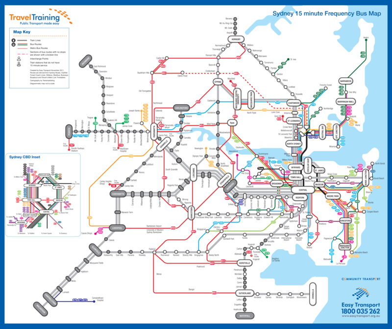 Sydney Bus Map Best of the Rest: Transport frequency in Sydney | Transport Sydney