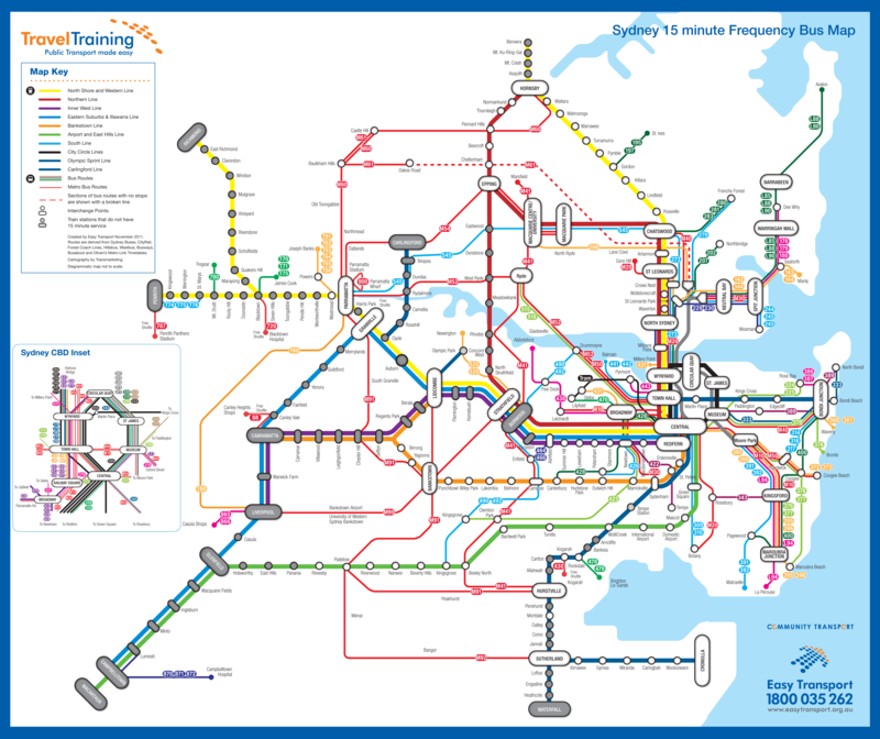Sydney Bus Map sydney: new efforts at frequency mapping (guest post) — Human Transit