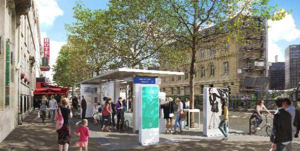 Paris station de bus du futur