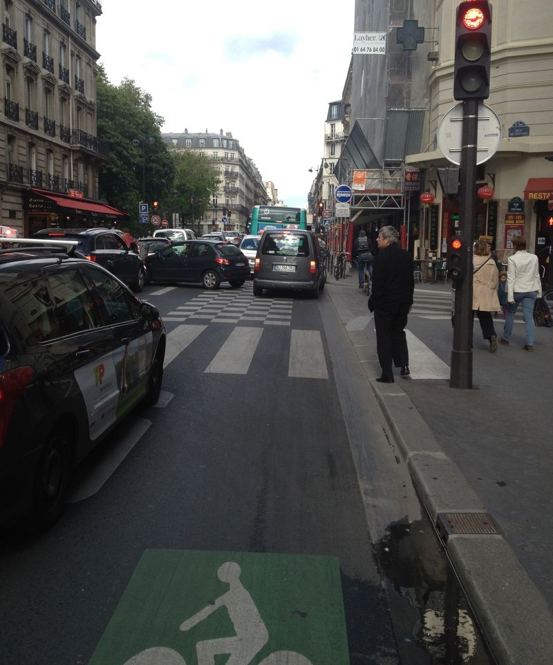 Bus lane traffic