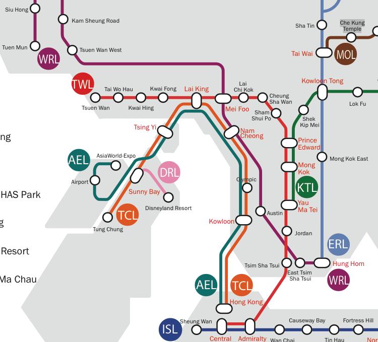 hong kong metro five transfers  Human Transit