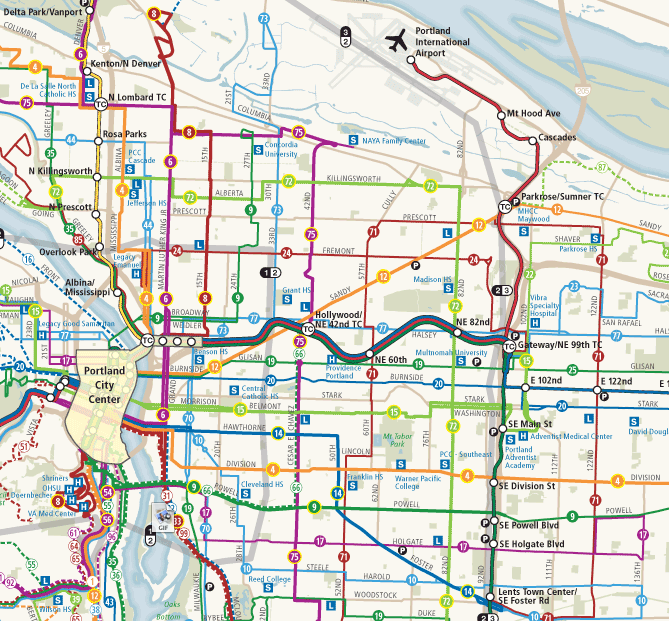 Frequent Networks Archives Page 3 of 8 Human Transit – Portland Tourist Map