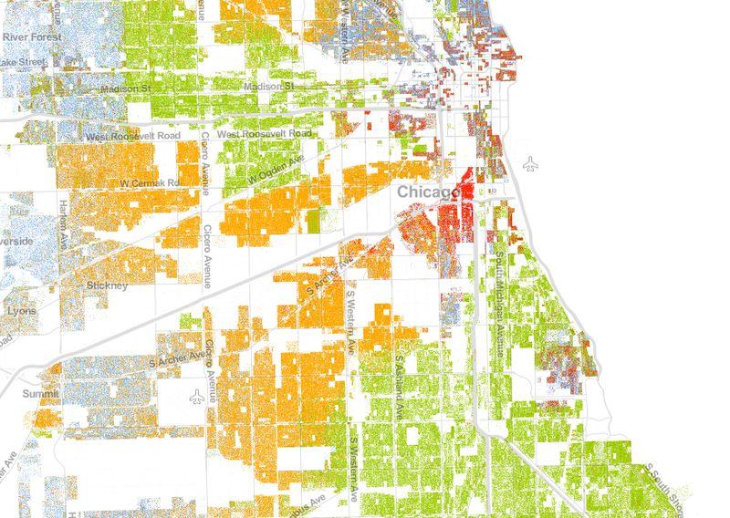 芝加哥的种族地理样本