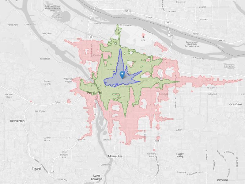 Portland_isochrone_intown
